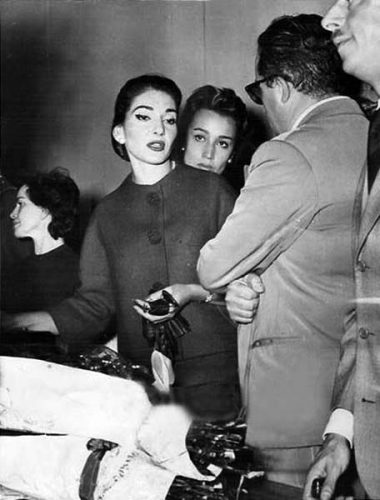 Maria Callas and Giovanna Lomazzi, Milan, 1959