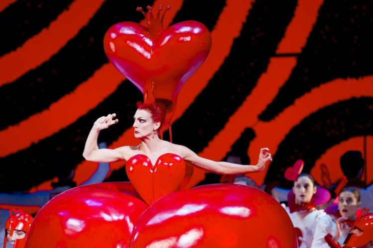 Zenaida Yanowsky as the Red Queen in Alice's Adventures in Wonderland © Johan Persson, ROH 2011