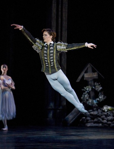 Joseph Caley as Albrecht in Giselle with the Birmingham Royal Ballet, photo by Bill Cooper