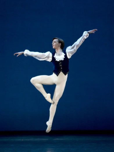 Joseph Caley in Mozartiana with Birmingham Royal Ballet, photo by Bill Cooper