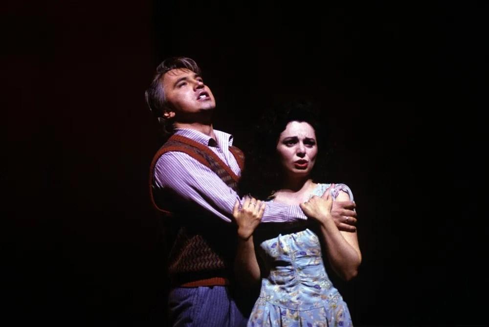 Dmitri Hvorostovsky in Pagliacci, 1993, with Nuccia Focile, photo by Lelli e Masotti