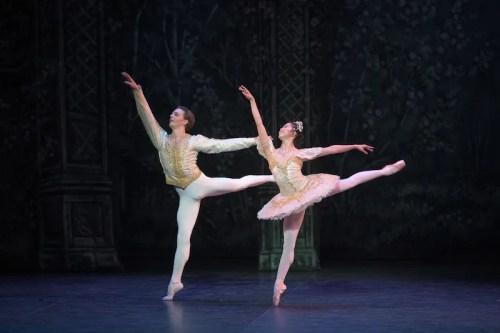 Shiori Kase as Clara and Joseph Caley as the Nephew in English National Ballet's Nutcracker © Laurent Liotardo