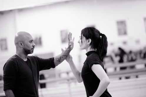 Akram Khan and Tamara Rojo in rehearsals for Giselle © Laurent Liotardo