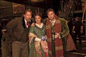 After a performance of La Boheme at the Royal Opera House with soprano Anna Netrebko and tenor Joseph Calleja 2015