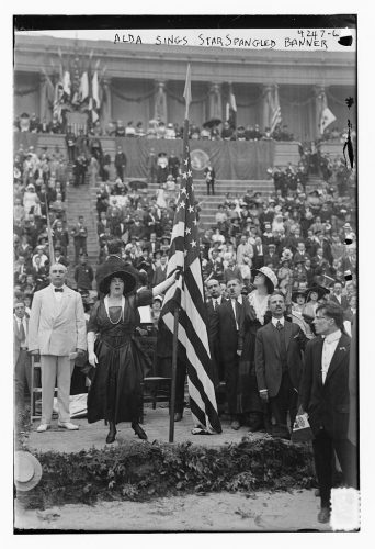 Frances Alda performing at a ceremony to honor the Prince of Udine   George Grantham Bain Collection (Library of Congress)
