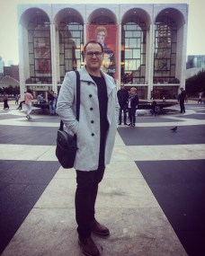 Walking to rehearsal at the Met for La Boheme 2017