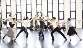Antonino Sutera, Emanuela Montanari, Mariafrancesca Garritano, Christian Fagetti, Massimo Garon rehearse Le Corsaire