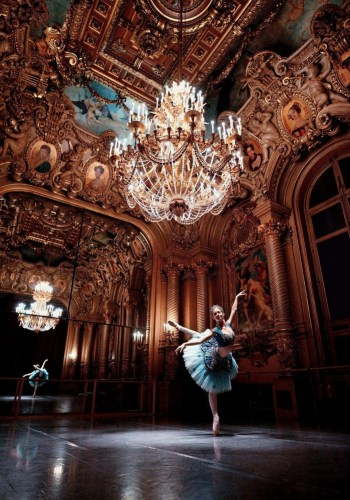 Laurretta Summerscales at the Paris Opera photographed by Laurent Liotardo