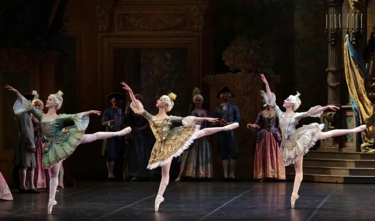The Sleeping Beauty with Alessandra Vassallo, Caterina Bianchi, Gaia Andreanò, photo by Brescia e Amisano, Teatro alla Scala
