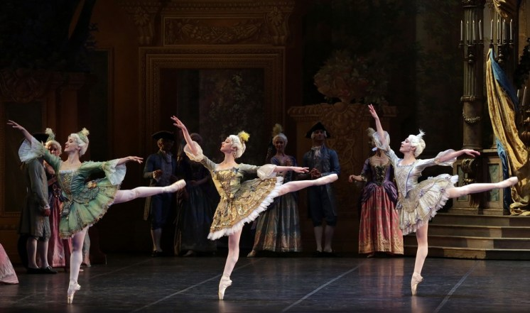 The Sleeping Beauty with Alessandra Vassallo, Caterina Bianchi, Gaia Andreanò, photo by Brescia e Amisano, Teatro alla Scala