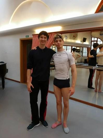 James Hobley With Vadim Muntagirov In Prague