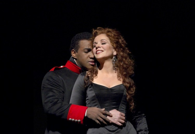 Lawrence Brownlee and Renée Fleming in RRossini's Armida, photo by Ken Howard, Metropolitan Opera 2010