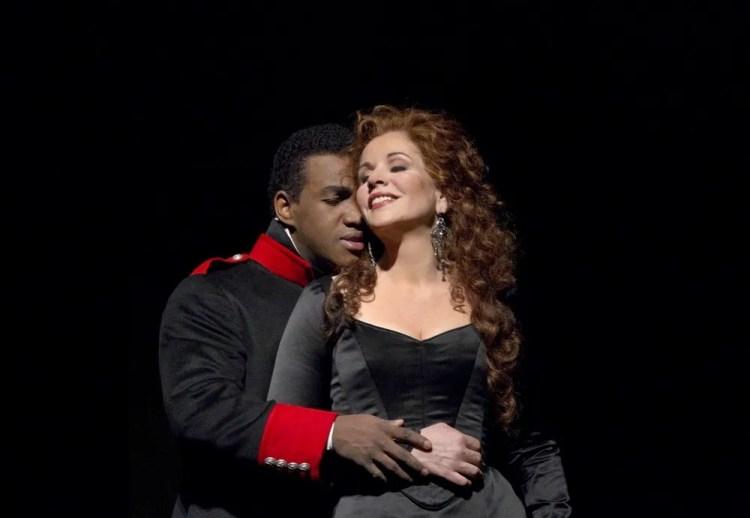 Lawrence Brownlee and Renée Fleming in RRossini's Armida, photo by Ken Howard, Metropolitan Opera 2010