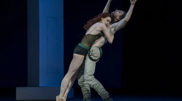 Ekaterina Krysanova and Vladislav Lantratov in The Taming of the Shrew, photo by Alice Blangero