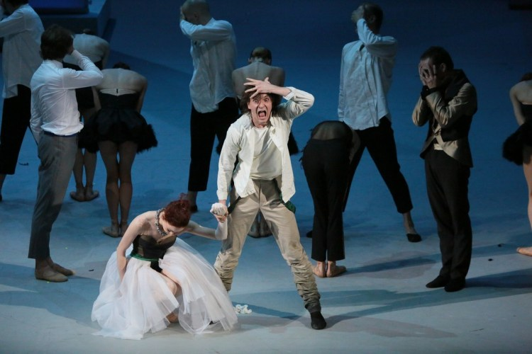 Ekaterina Krysanova and Vladislav Lantratov in The Taming of the Shrew, photo by Damir Yusupov
