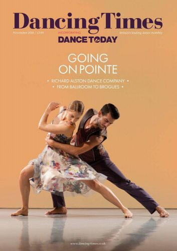 Dancing Times November 2018 Cover