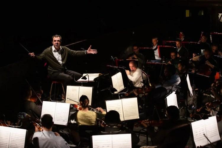 Daniele Gatti during rehearsals with the Opera di Roma Orchestra, photo Yasuko Kageyama,Opera di Roma