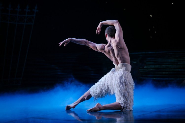 Matthew Ball in Matthew Bourne's Swan Lake, photo by Dasa Wharton, 2018 07
