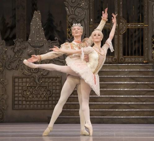The Nutcracker. Vadim Mutagirov as The Prince and Marianela Nuñez as The Sugar Plum Fairy. ©ROH, 2018. Photographed by Alastair Muir