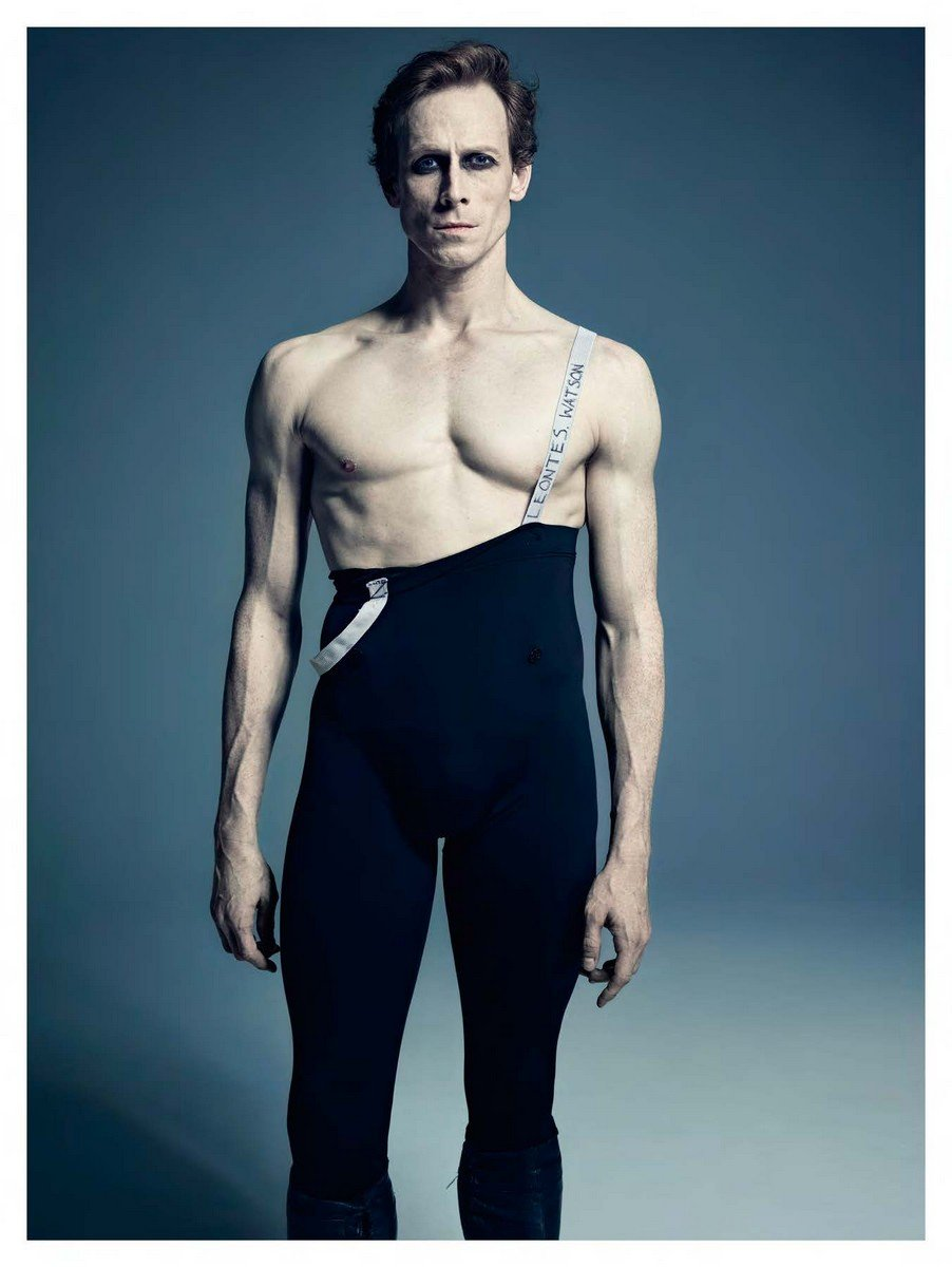 Edward in rehearsal as Leontes, from Christopher Wheeldon's The Winter's Tale
