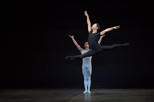 English National Ballet Jeffrey Cirio and Joseph Caley in Song of the Earth © Laurent Liotardo