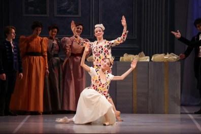 George Balanchine's The Nutcracker®, Paola Giovenzana and Vittoria Valerio as Harlequin and Columbine, photo by Brescia e Amisano, Teatro alla Scala 2018