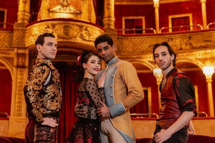 Rezza (Lucas) Bianchi (Carmen) Ramasar (Don Josè) Cocino (Garcia) in Carmen by Bubeníček, photo ® Yasuko Kageyama