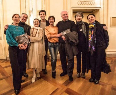To mark 200 years of La Scala's Dancing School with in 2013 with Savignano, Olivieri, Fracci, Bolle, Dorella, Fascilla, Prina, Cosi, photo Brescia e Amisano
