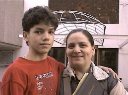 Isaac with his mother