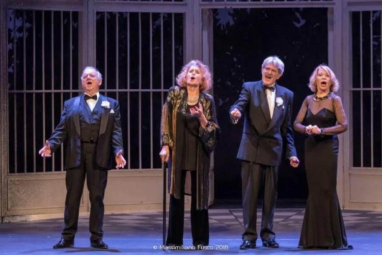 Quartet, from left, Cochi Ponzoni, Erica Blanc, Giuseppe Pambieri, and Paola Quattrini, photo by Massimiliano Fusco