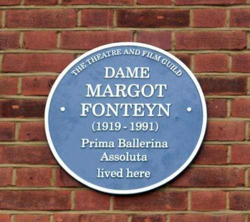 Margot Fonteyn's blue plaque