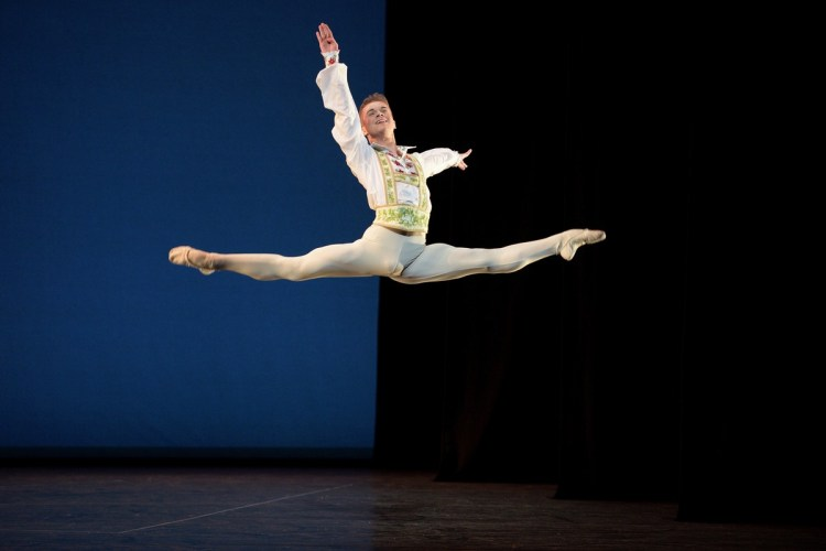 Rhys Antoni Yeomans performing Coppélia © Laurent Liotardo