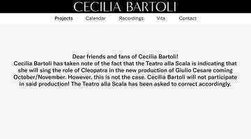 Cecilia Bartoli announcement