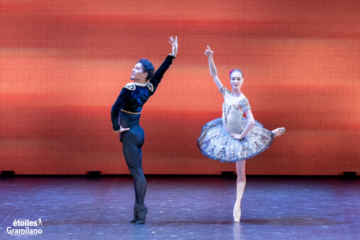 Don Quixote (pas de deux, Act III) with with Tatiana Melnik and Bakhtiyar Adamzhan © Graham Spicer, Daniele Cipriani Entertainment 1