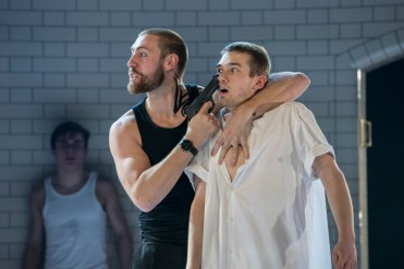 Matthew Bourne, Romeo and Juliet, Tybalt (Dan Wright) and Balthasar (Jackson Fisch)