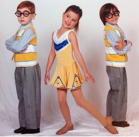 Shale Wagman at 6 (on the right) in his first ever dance