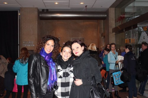 Shale Wagman with his mother Heather (left) and teacher Tatiana Stepanova (right) after the YAGP finals at the Lincoln Center