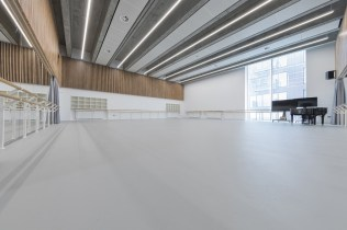 English National Ballet's new home on London City Island rehearsal studio © Michael Molloy 02