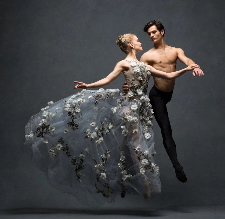 Sasha De Sola and Angelo Greco, Principals, San Francisco Ballet Clothing by Marchesa © Ken Browar and Deborah Ory