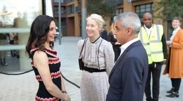 Tamara Rojo, Deputy Mayor for Culture Justine Simmons and Mayor of London Sadiq Khan at the opening of English National Ballet's new building © Laurent Liotardo