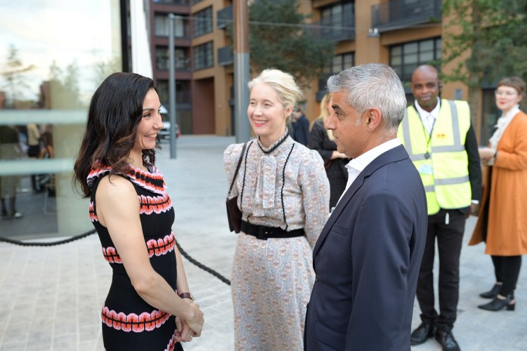 Tamara Rojo, Deputy Mayor for Culture Justine Simmons and Mayor of London Sadiq Khan at the opening of English National Ballet's new building © Laurent Liotardo