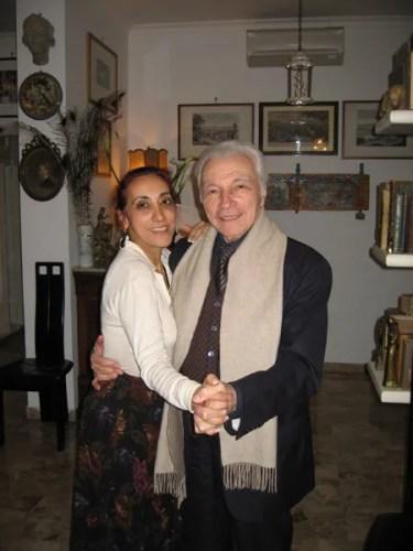 Alberto Testa with his good friend Aimonetta Allder