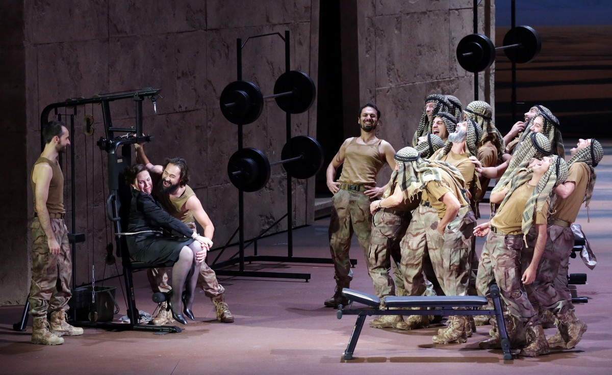 Giulio Cesare with Christophe Dumaux and Sara Mingardo © Brescia e Amisano, Teatro alla Scala 2019