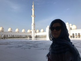 Hui He at the Sheikh Zayed Grand Mosque, Abu Dhabi
