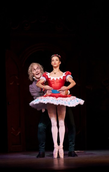 Coppelia. Francesca Hayward as Swanilda and Gary Avis as Dr Coppelius. (c) ROH, 2019. Photographed by Bill Cooper. (2)