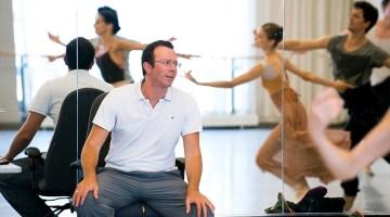 Alexei Ratmansky in rehearsal, photo by Sian Richards
