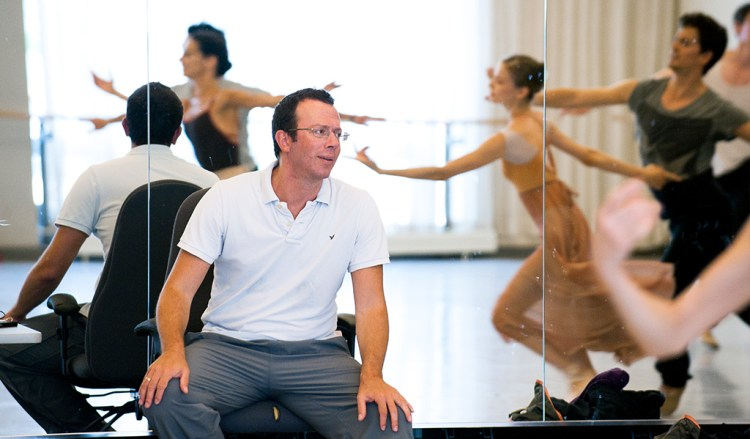 Alexei Ratmansky in rehearsal, photo by Sian Richards