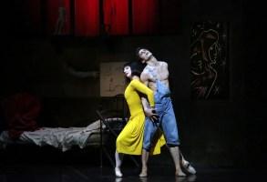 Le Jeune homme et la Mort, Nicola Del Freo and Marta Romagna, photo Brescia e Amisano Teatro alla Scala, 2