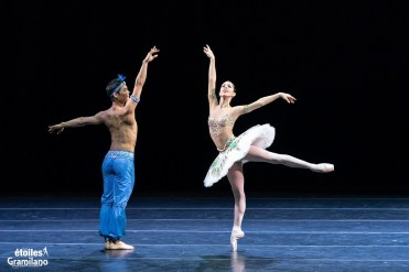 Young Gyu Choi and Ana Sophia Scheller in Les Etoiles 2020 Rome, photo by Graham Spicer