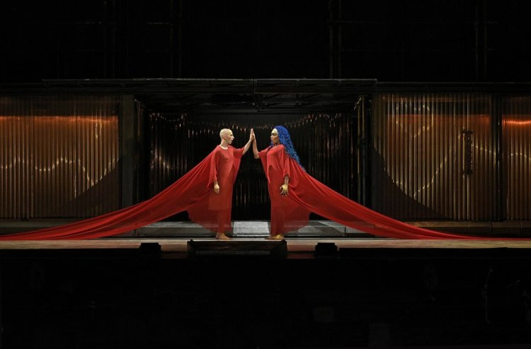 J'Nai Bridges and Anthony Roth Costanzo in Akhnaten, The Metropolitan Opera 2019